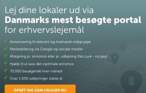 Opret dig som udlejer hos Lokalebasen.dk og få en gratis annonce her!